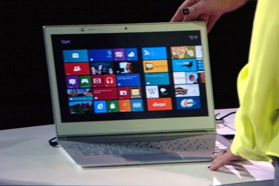 Az Acer érintőkijelzős ultrabookja (Fotó: IT café)