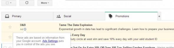 Kéretlen reklámleveleket küld a Google a Gmail-be?