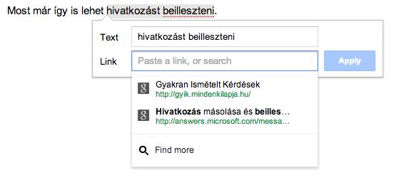 Kényelmesebb linkelés a Google Drive-ban