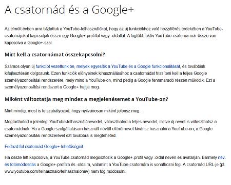 Google szál összekapcsolása