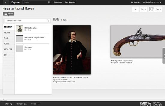 virtuális múzeumlátogatás - még több magyar kincs a Google Art Projectben