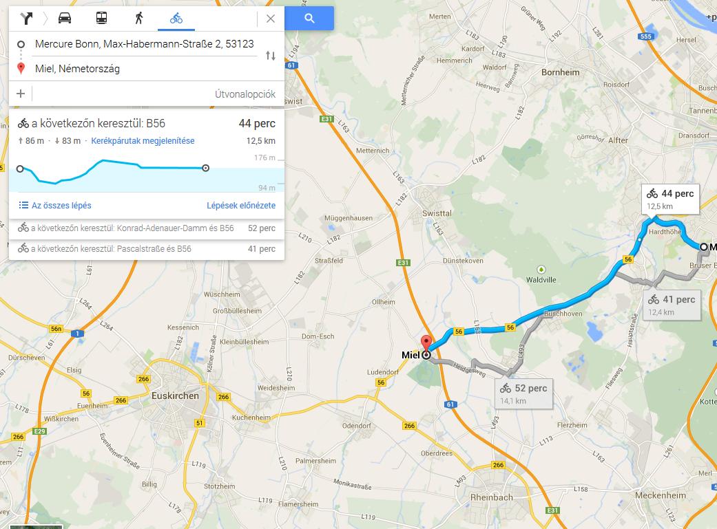 google térkép útvonalterv Tovább segíti a kerékpárosokat a Google Térkép   IT café Szoftver hír google térkép útvonalterv