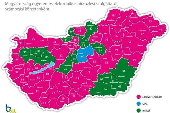 magyarország körzetszámok térkép Visszahúzódik a BTel a Telekom szolgáltatási területéről   IT café  magyarország körzetszámok térkép