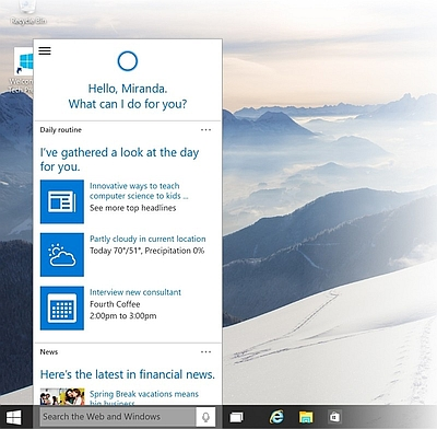 Microsoft Windows 10 Cortana