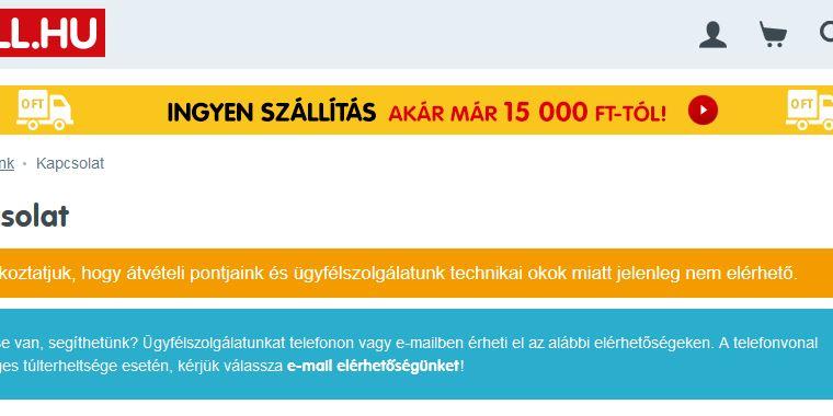 d850484a95 Razzia az egyik vezető magyar webáruháznál - IT café Mérleg hír