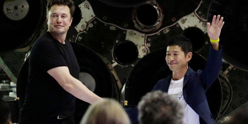 408c84a58 Egy japán milliárdos lesz a SpaceX első Hold-kerülője - IT café Tech hír